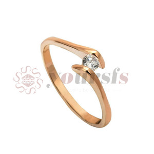 Yoursfs Dainty Solitaire Women Ring 18K Gold Plated Austrian Crystal Ring for Women