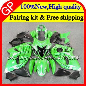 SUZUKI Hayabusa GSXR1300 için Vücut Yeşil gümüş 08 09 10 11 42GP37 GSX R1300 12 13 14 15 GSXR 1300 2012 2013 2014 2015 Motosiklet Fuarı