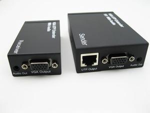 Freeshiping 300 메터 HD 1080 마력 VGA UTP 익스텐더 1x1 스플리터 오디오 over Cat5 / 5e / 6 RJ45 이더넷 케이블 지원 모니터 프로젝터 HDTV VGA300M