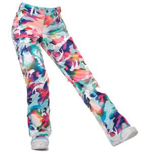 Wholesale- Gsou Snow Brand Waterproof Ski Pants Women Snowboard Pants Ski Trousers High Quality Windproof Outdoor Winter Skiing Snow Pants