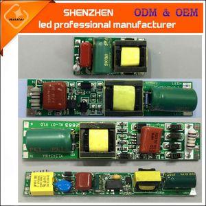 AC85-265V 50 / 60Hz DC30-80V 9w 18w T5 T8 T10 no aislada del tubo del LED tubo conductor no aislado de fuente de alimentación de iluminación transformadores electrónicos