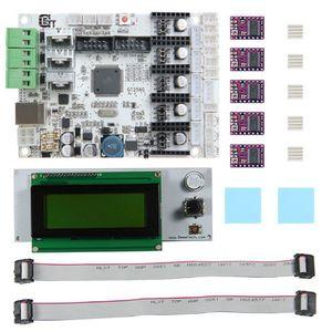 Freeshipping Durable Impresora 3D Motherboard GT2560 + DRV8825 Driver + LCD2004 Kit Impresora 3D Piezas Accesorios