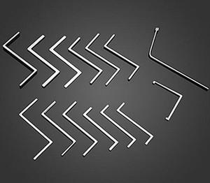 hohe qualität 14 sätze von stickstabschlüssel edelstahl schloss pick set professionelle bauschlosserwerkzeug