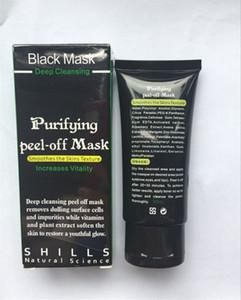 핫 SHILLS 블랙 머드 페이스 마스크 블랙 헤드 리무버 딥 클렌징 SHILLS 블랙 MASK 50ML 블랙 헤드 페이셜 마스크