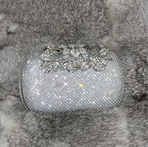 2019 date arbre fleur diamants sac de soirée main tenant le sac de forage banquet dames paquet sac de mariée Bling Bling brillant