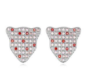 Orecchini Per le donne di moda di lusso di alta qualità Zircone 18K placcato oro Leopard testa orecchini gioielli all'ingrosso spedizione gratuita TER020