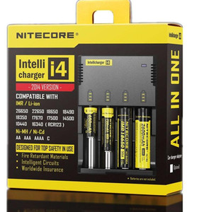 Nitecore I4 충전기 US Nitecore 배터리 충전기 (18650 용) 14500 17670 18490 17500 17335 16340 CR123 범용 배터리 충전기 FREE DHL