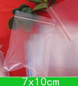 New Clear Полиэтиленовые мешки (7x10cm) закрывающиеся Поли мешки, молния мешок для оптовой продажи + свободная перевозка груза 1000pcs / серия