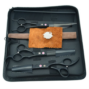 """Wholesale-7.0 """"JP440C Professionnel Ciseaux Toilettage Pour Animaux Set Peint Chien Ciseaux Ciseaux Courbés Amincissants, LZS0358"""