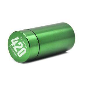 Stash Jar - 밀폐형 냄새 증거 알루미늄 허브 용기 세라믹 흡연 파이프 허브 분쇄기 무료 배송