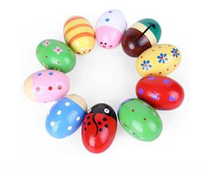 Ahşap Yumurta Kum Müzik Oyuncak Kum Çekiç Erken Eğitim Enstrüman Çocuk Bebek El Oynamak Için Oyuncaklar