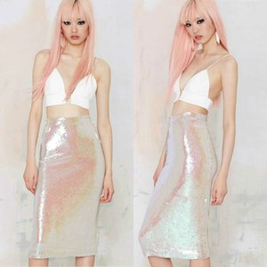 cute retro skirt sequined pencil bodycon skirts high waist women skirt for Pink Fashion Sexy mermaid skirts Plus size XS-XXL free shipping