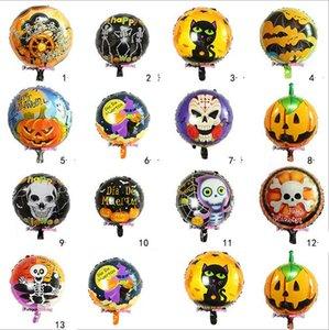 Hot Halloween globos foil balloons halloween decorazioni 18inches palline d'aria rotonde giocattoli classici palloncini di Halloween Kids Balloon Toys