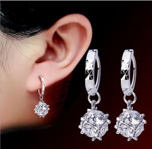 Creolen Für Frauen Fashion Love Magic Cube Drop Korean Silber Ohrschmuck 925 Sterling Silber Ohrringe Hoop Damen Geschenk