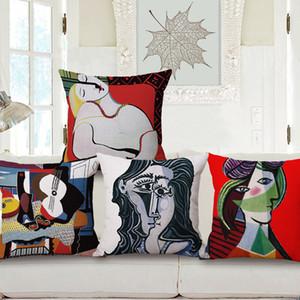 pintura a óleo capa de almofada picasso cojines europeu decorativos ALMOFADA do vintage cojin retro casa decoração criativa arte