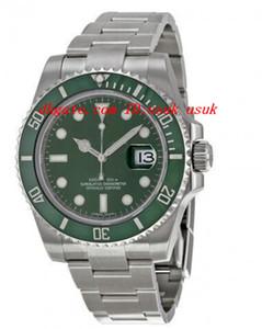 Lüks Saatler Yeşil Kadran Paslanmaz Çelik Bilezik Otomatik Mens Watch erkek Bilek Saatler
