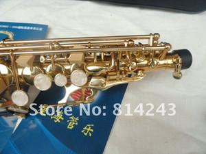 Marca Xinghai SS-100 B Sassofono Soprano dritto tubo superficie d'oro lacca ottone Sax intagliato a mano di goccia B strumento musicale