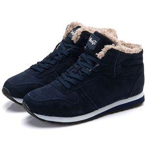 Männer Frauen Stiefel Plus Größe Damen Winterschuhe Runde Zehe Schuhe Frau Ankle Schnee Stiefel Weiche Frauen Schuhe Schwarz Große Größe