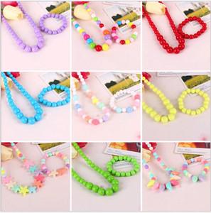 Cute Sweet Candy Color Kids ювелирные изделия 2pcs детей ожерелье браслет Наборы для девочек Подарочные Multicolor выбрать