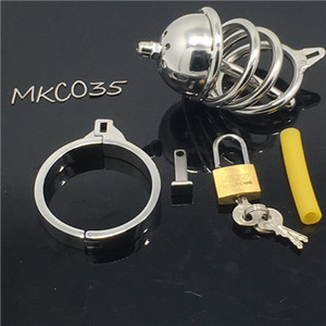 Toys Design Steel Stainless Bondage Chastity Masculino New Boy Cage Metal Dispositivo Sex For Chastity Cage MKC035 FowCo
