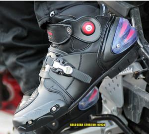 Pro-bisikletçinin A9003 otomobil yarış ayakkabı off-road motosiklet boots Profesyonel moto siyah botas Hız Spor Motocross Siyah