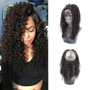 Pre Plucked 360 Lace Frontal Closure 8A Lace Frontals With Baby Hair Piece Malaysian Curly Hair 360 Lace Virgin Hair Closure