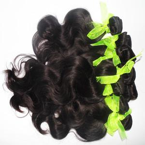 Neueste Frisur malaysischer Menschenhaar 4pcs 400g Klasse 7A Mischung viel Körperwellenhaar Weben natürliche Farbe niedrigsten Preis schnelles freies Verschiffen DHL