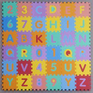 Дети Ребенок S Sizei Пены Алфавит Interlaocking Буквы Цифры Играть Образовательные Мягкий Коврик Пол Головоломки