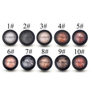 Wholesale-2016 Hot 10 Colors 옵션 구운 파우더 아이 섀도우 아이머 섀도우 팔레트 Shimmer Metallic Eyes 메이크업 100 % New New