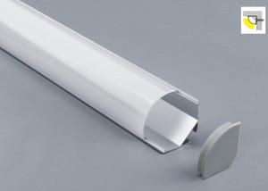 무료 배송 높은 품질 뜨거운 판매 알루미늄 프로파일 일시 중단 된 천장 가장자리 스트립 빛 지우기 오팔 디퓨저 lense에 LED가