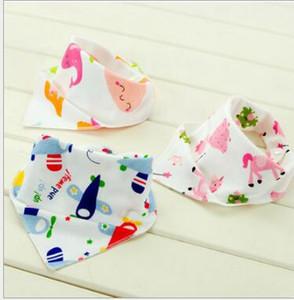 Baberos Burp Cloths Child Sided Infantil Vendaje Algodón Bebé Alimentación Bib Bufanda Saliva Towel Delantales Fábrica al por mayor envío gratis Drop