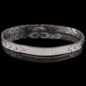 (220B) (195 * 6 Millimeter) Fantasie-freie Steinuhr-Armbänder für Männer weißes Gold überzogene europäische Art und Weise