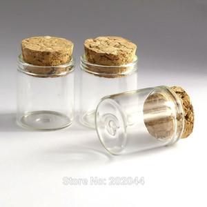 Venta al por mayor- 20pcs 5ml botellas de vidrio tarro de masón frascos frascos con tapón de corcho decorativo tapado con corcho minúsculo mini botella de líquido 22 * 24 mm 0.86 * 0.94in