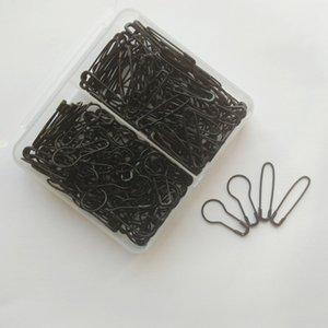 200 pezzi nero spilla di sicurezza a forma di pera a forma di U buona per i marcatori di caduta dei segnapunti