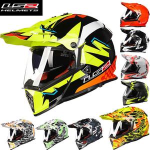 2016 Nova LS2 lente Dupla Motocross capacete da motocicleta masculino verão profissional de corrida off road moto capacetes feitos de ABS MX436