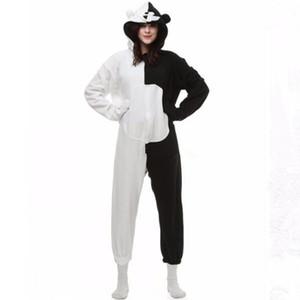 Danganronpa Dangan Ronpa Monokuma Monomi Orso Fleece Tutina Pigiama Costume Halloween Carnevale Party Abbigliamento Cartoon Tuta Pigiameria