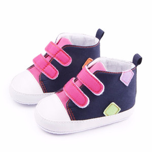 First Walkers 0-18M 유아 신생아 신발 유아 유아 소년 소녀 Soft Sole Canvas Sneaker Hot