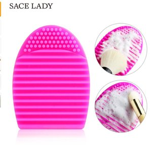 SACE LADY Makeup Brushes Cleaner Silicone Washingh Tool 7.5*5.5cm Makeup Cleaning Scrubber Board Egg Make up Cosmetic