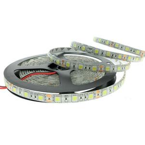 SMD 5050 Светодиодная лента 60led m Один цвет 5M 300 светодиодов Водонепроницаемый не водонепроницаемый гибкий светодиодный свет полосы для свадьбы Рождество