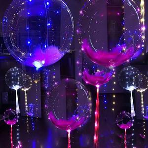 Ballon à air créatif de 18 pouces avec des lumières String Ballons en PVC à fil de cuivre LED s'allument de manière transparente Airballoon B R