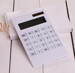 크리 에이 티브 슬림 휴대용 미니 12 디지털 계산기 태양 에너지 크리스탈 키보드 이중 전원 공급 장치 rekenmachine