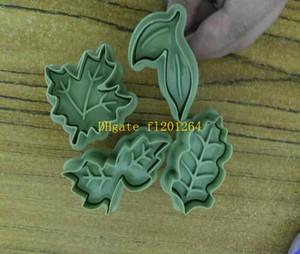 200 компл. / лот новый DIY Fun прекрасный дерево лист стиль помадной выпечки Торт cookie Cutter плесень Плесень