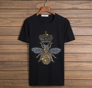 Männer Luxus Diamant Design Kurzarm T-Shirt Mode T-Shirts Männer lustige Marke Baumwolle Tops und T-Shirts