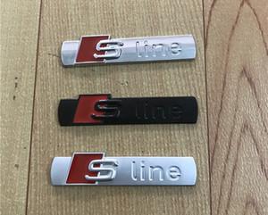 3D S Line Sline Emblema Delantero Emblema Insignia Aleación De Metal Pegatinas Accesorios Estilo Para Audi A1 A3 A4 B6 B8 B5 B7 A5 A6 C5 C6 A7 TT