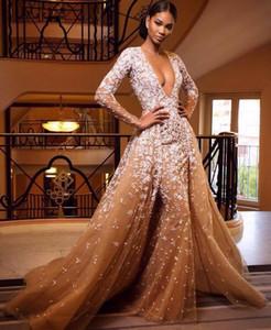 Robe De Soiree Evening Party Dress Foto reali Nude Color Tulle Crystal Royal Party Occasioni Abiti da sera lunghi formali