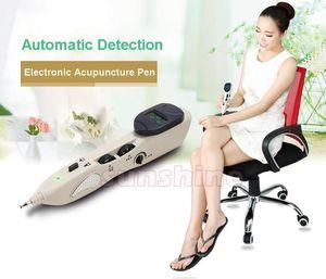 Sıcak satış elektrik meridyen akupunktur noktası kalem otomatik meridan dedektörü tanı ev kullanımı için acupunture stimülasyon masaj cihazı