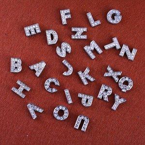26 carta para Pandora Encantos acessório para pulseiras de couro PU colares Pulseira Jóias DIY charme de cristal de metal Fazendo Jóias