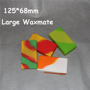 실리콘 오일 waxmate 컨테이너 단지 항아리 왁스 대형 왁스 메이트 패드 사각형 컨테이너 대형 식품 학년 실리콘 패드 건조 허브 dabber 상자 도구