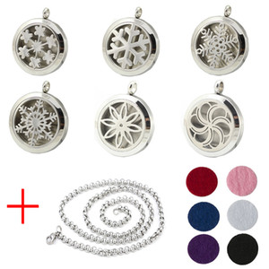 Aroma Jewelry 30mm Perfume Locket 316L Stainless Steel Essential Oil Aromatherapy Diffuser Locket Pendant (Send Chain Felt Pad) WS-16