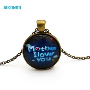JAKONGO стеклянный купол кабошон 25 мм мать я люблю тебя ожерелье стекло кабошон купол кулон N008